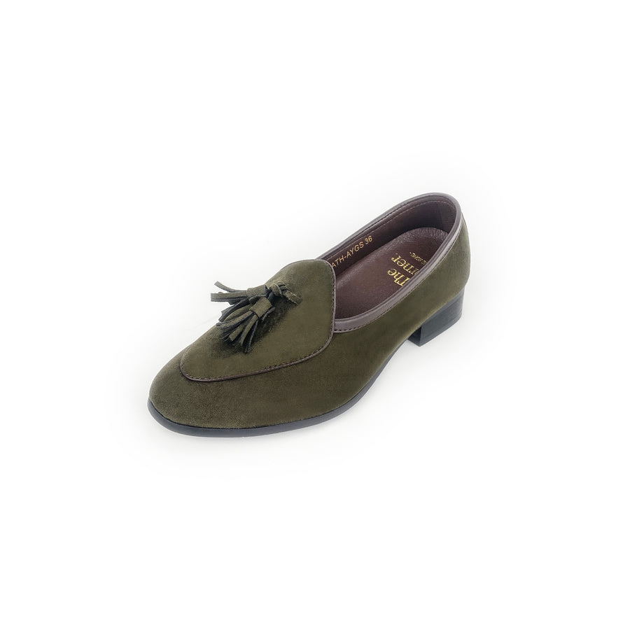 Kath - Army Green Suede