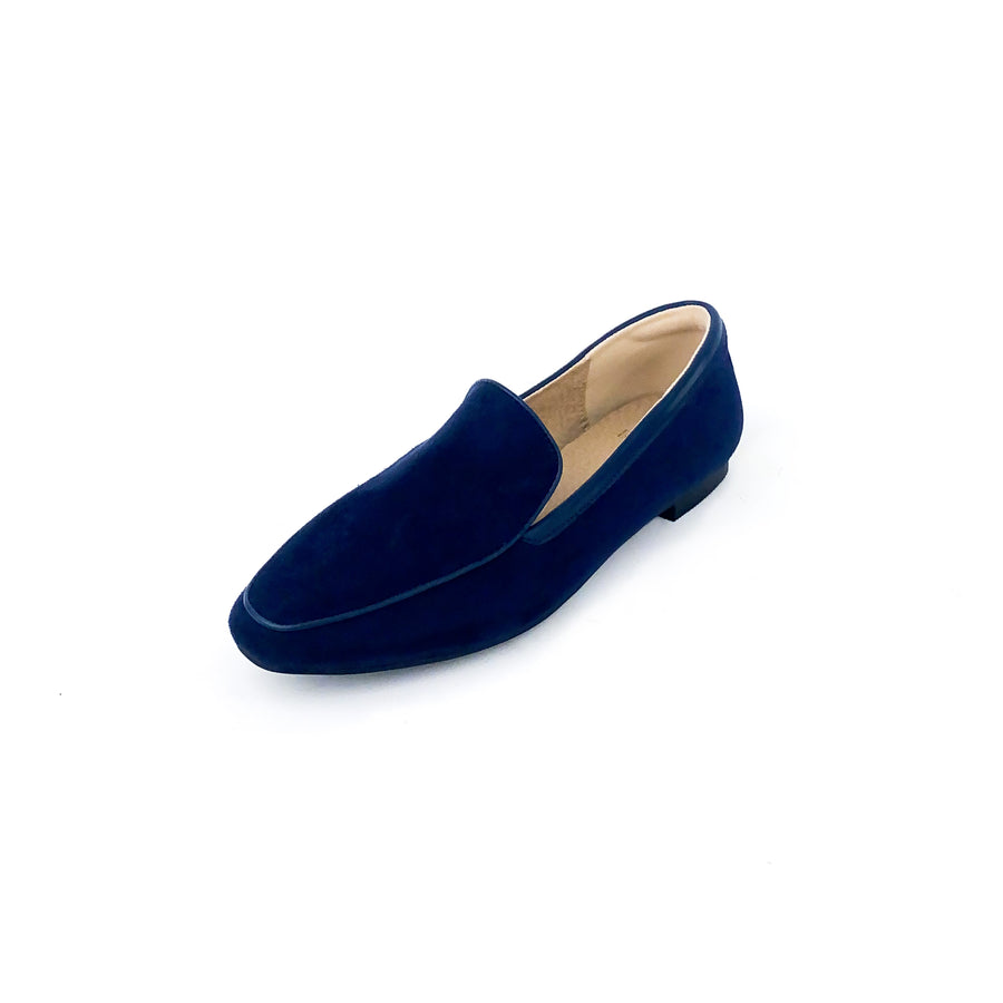 Kroco Suede Loafers - Navy