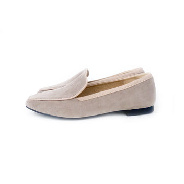 Kroco Suede Loafers - Tan