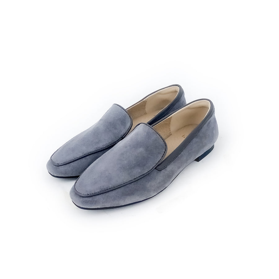 Kroco Suede Loafers - Grey