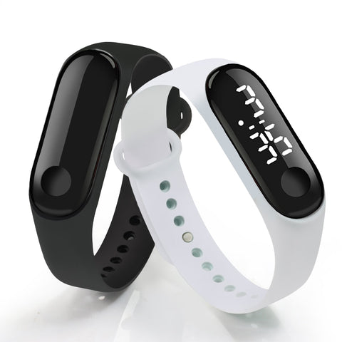 Digital Touch Screen LED Display Silicone Strap Men Women