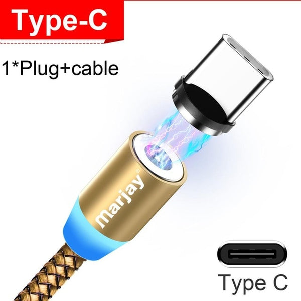 Marjay Magnetic Micro USB Cable For iPhone Samsung Android Fast Charging Magnet