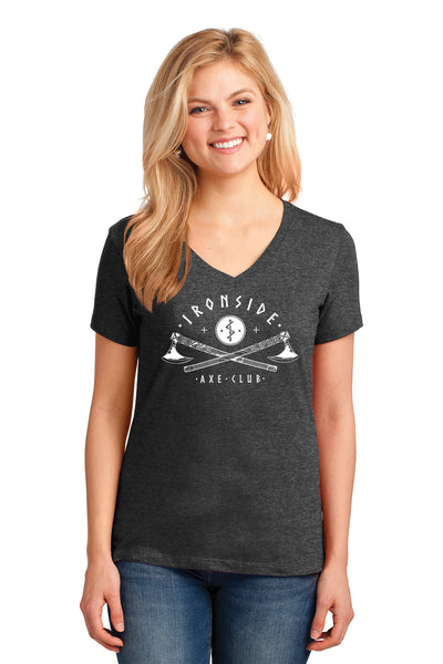 Port & Company Ladies Core Cotton V-Neck T-Shirt
