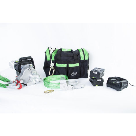 PCW3000-Li-ABK Kit With Winch, Two 2.5 Amp Batteries, Charger, and Accessories