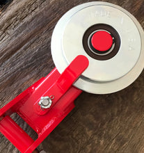 Made in USA Self-Releasing Snatch Block / Directional Pulley (Red)