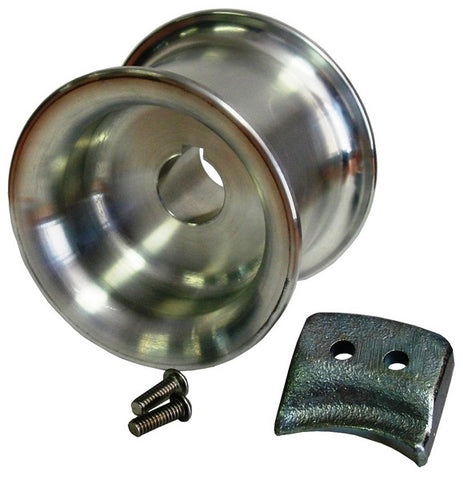 3-3/8'' Capstan Drum (85 mm) w/rope guide and 2 bolts PCA-1100