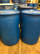 55-gallon closed top plastic drums (quantity 5-10)