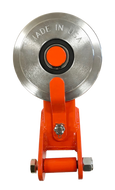 Made in USA Self-Releasing Snatch Block / Directional Pulley (Orange)