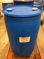55-gallon closed top plastic drums (quantity 1-4)