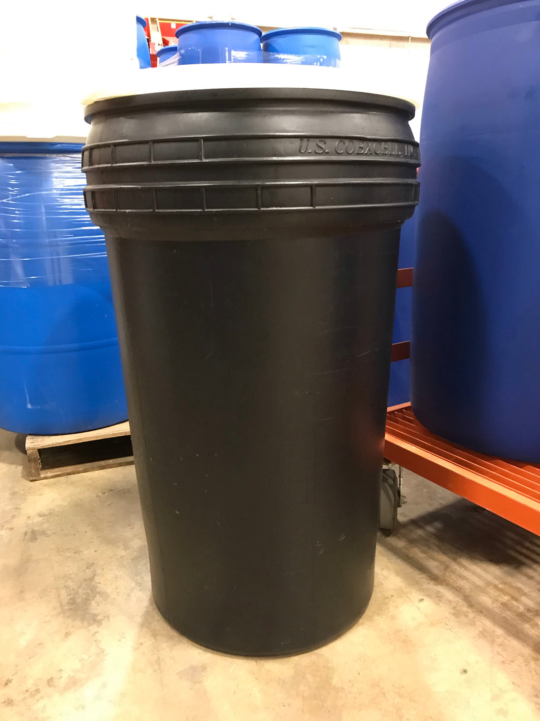 55-gallon open top plastic barrel (quantity 1-4)