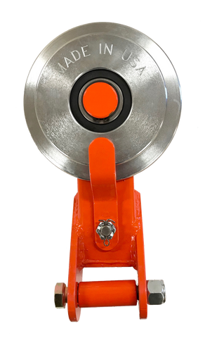 Made in USA Self-Releasing Snatch Block (Orange)
