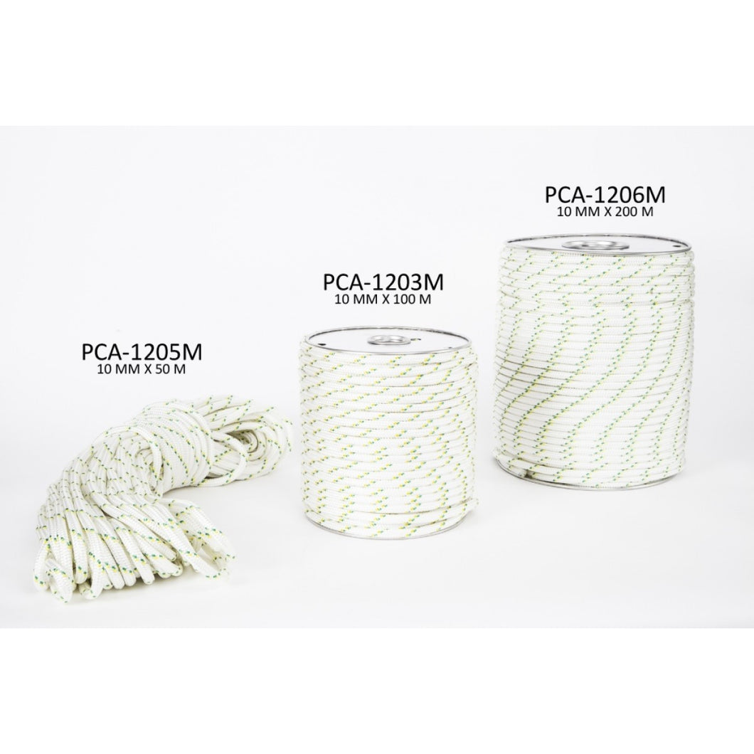 50 m - PCA-1205M Portable Winch Double-Braided Polyester Rope 3//8 x 164