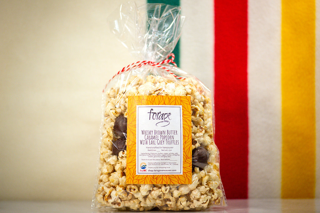 Whisky Brown Butter Caramel Popcorn With Earl Grey Truffles