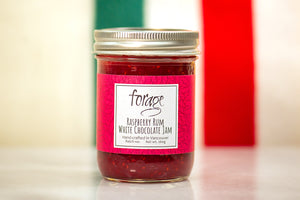 Raspberry Rum White Chocolate Jam