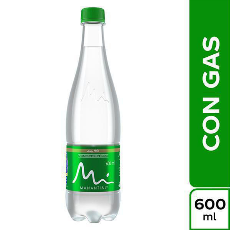 Agua Manantial Con Gas - 600ml