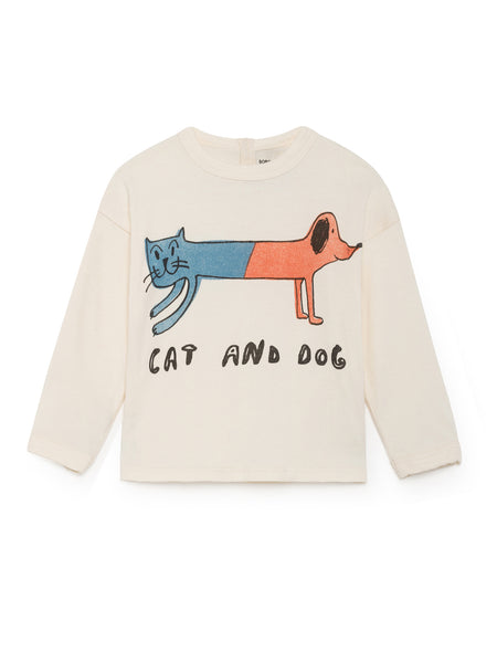 Round Neck LS Tee - Cat & Dog