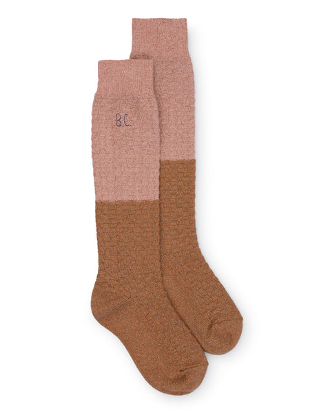 Long Socks - Gold & Pink