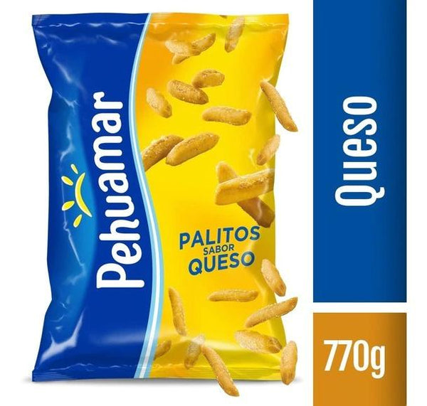 Pehuamar palitos salados cheese flavor 770g bag