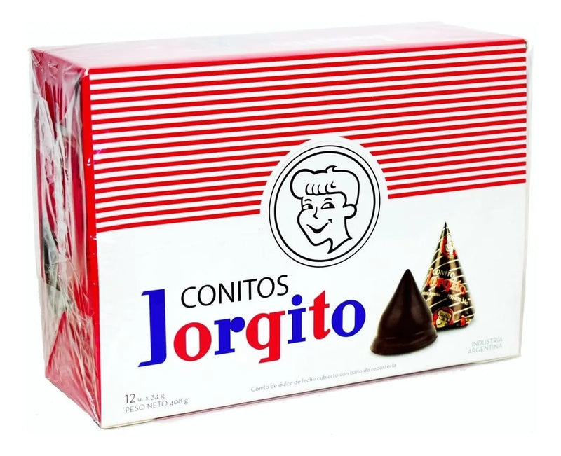 Conitos Cone Filled with Dulce de Leche and covered in Milk Chocolate, 408 g / 16 oz (box of 12)