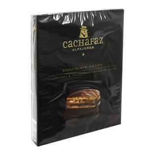 Cachafaz Alfajor Dark Chocolate with Dulce de Leche (box of 6)
