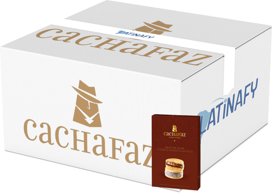 Cachafaz Alfajor Cornstarch with Grated Coconut and Dulce de Leche (box of 6) - Bulk of 12 Boxes