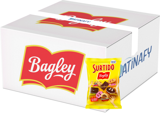 Surtido Bagley Assorted Galletitas Cookies Sonrisas Chocolinas Tentaciones Rumba Panchitas, 400 g / 14.1 oz bag - Box of 21