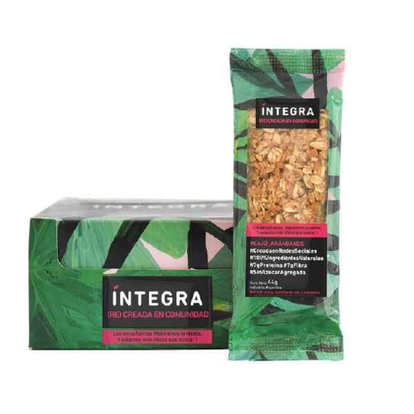 Integra Barra de cereal caju y arandanos, 440g (Pack of 10)