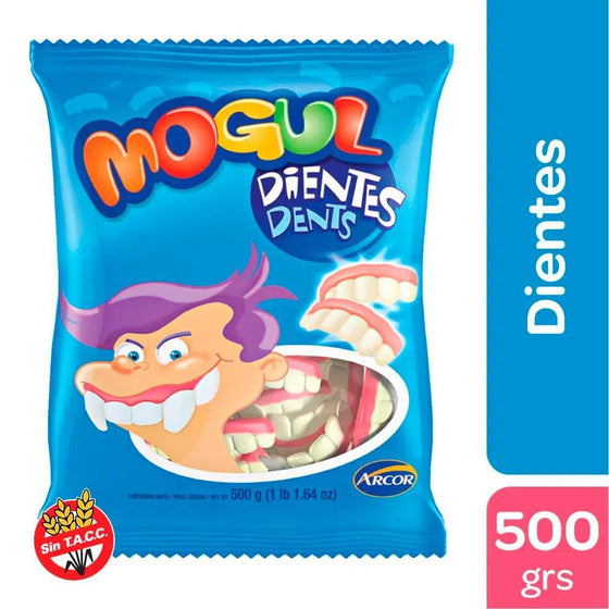Mogulgomitas-Dientes-Sabor-Frutilla-y-Yogur-Teeth-Shaped-Candiesgummies-Strawberry-Yoghurt-Flavor-500g