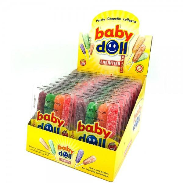 Baby-Doll-Chupetin-Lollipop-4-Assorted-Flavors-Apple-Cherry-Orangegrape-432g-box-of-18-trays-of-4-count