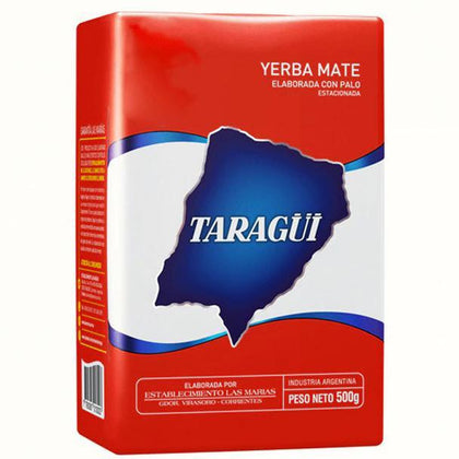 Taragüi-Yerba-Mate-Classic-Flavor-Con-Palo-with-Stems-from-Las-Marias-500g