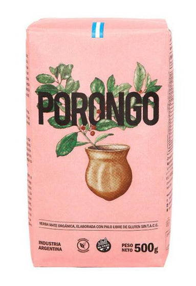 Porongo-Certified-Organic-Yerba-Mate-Pink-Bag-500g