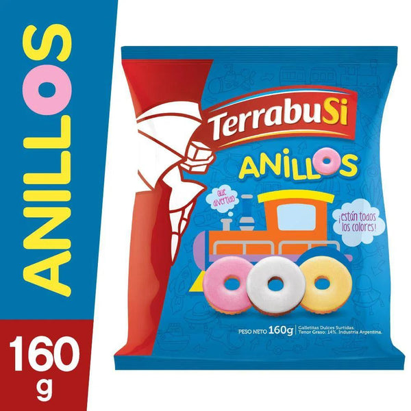 Anillos Terrabusi Galletitas Sweet Ring Cookies, 160 g / 5.6 oz (pack of 3)