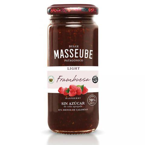 Masseube-Light-Organic-Raspberry-Jam-350g