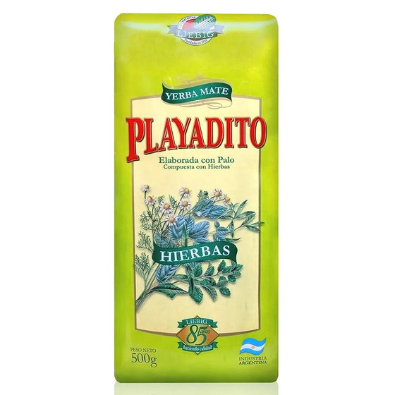 Playadito-Yerba-Mate-con-Hierbas-from-Colonia-Liebig-with-Lemon-Verbena-Chamomile-Mint-Salvia-500g