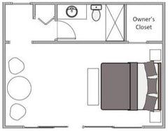 Quonset Hut Rental Studio Floorplan at Rhumb Line Vineyard