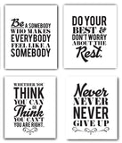 Motivational Inspirational Quotes UNFRAMED Art Prints