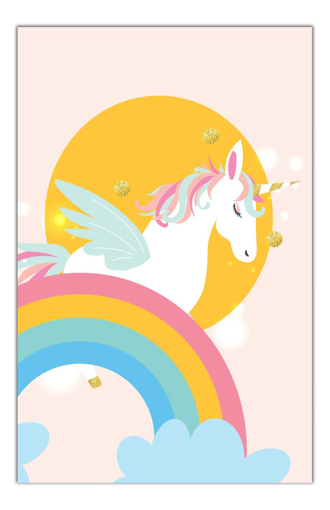 Unicorn Rainbow Bedroom Wall Art Decor