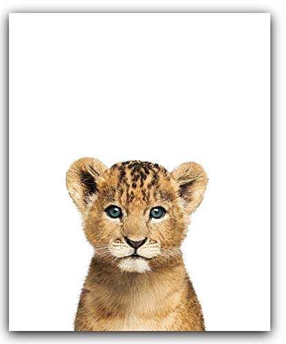 Safari Baby Animals Nursery Decor Art  8x10