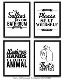 Typography Bathroom UNFRAMED Wall Art & Pictures