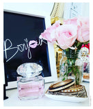 Bonjour Poster With Pink Lips | French Quote