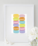 Macaroons Art Print | French Macaron Kitchen Art