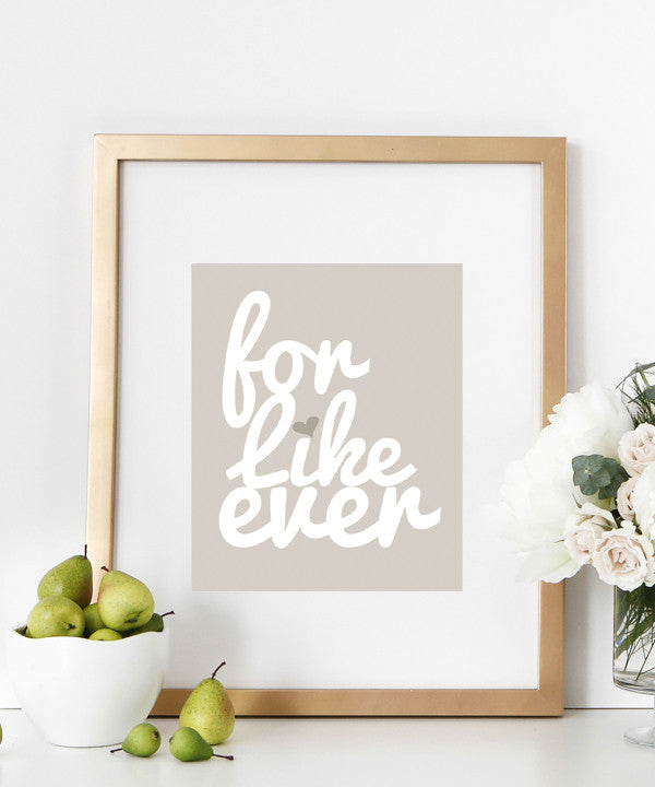 For Like Ever Poster | Kiss Language