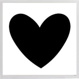 Large Black Heart 19 3/4