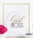 Girl Boss Print | Gift Idea for Her | Home Decor