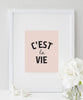 C'est la Vie Print | French Quote