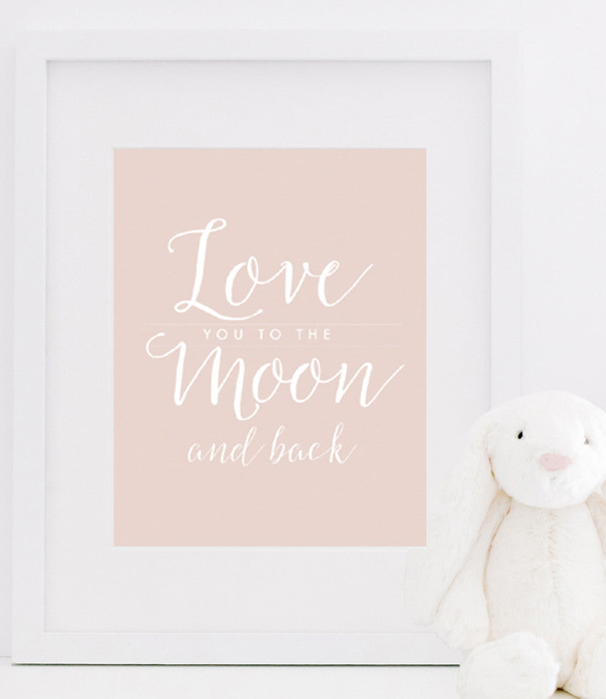 Love You To The Moon And Back Poster | Love You To The Moon Quotes