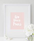 Un Deux Trois Vintage Poster | One Two Three in French