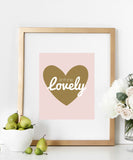 Isn't She Lovely Nursery Print, Heart Typography Poster