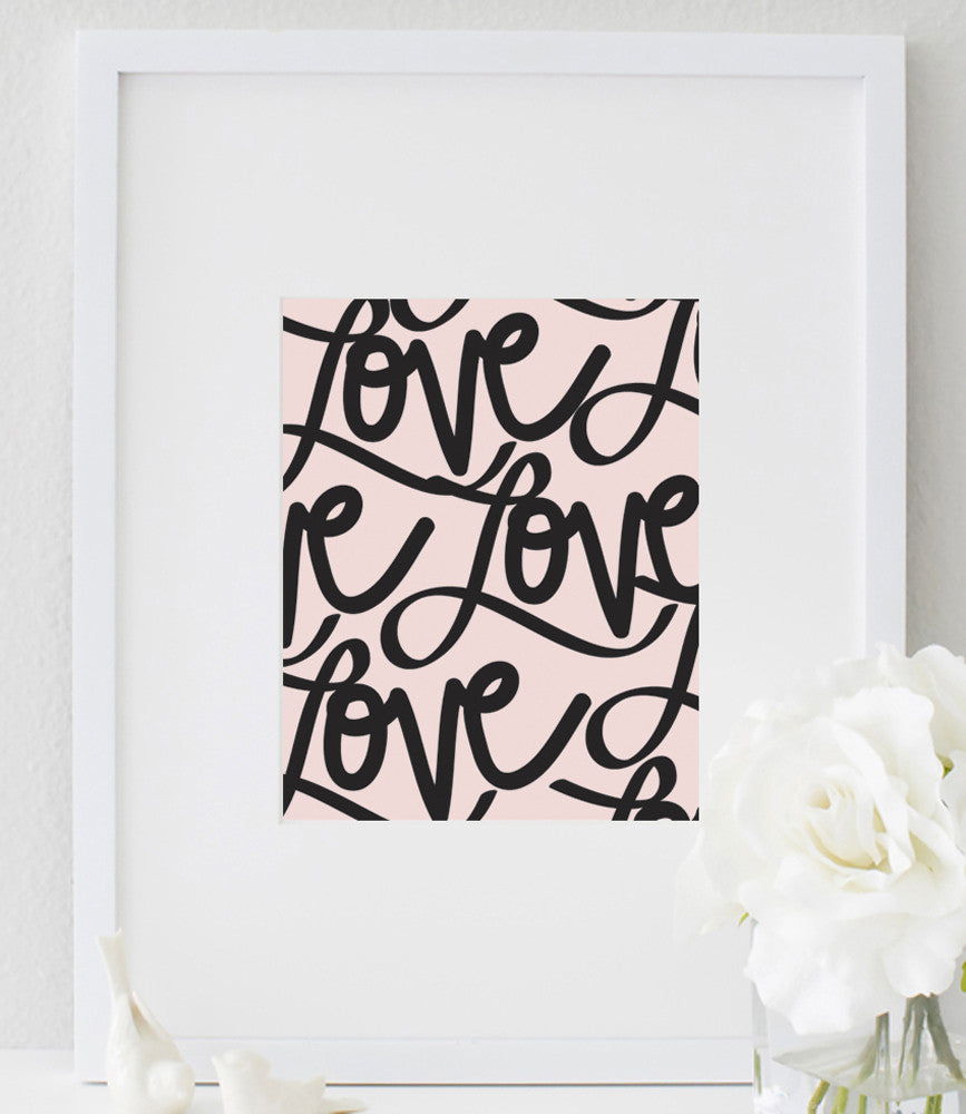Love Poster | Love Print | Love Typography | Couple Print