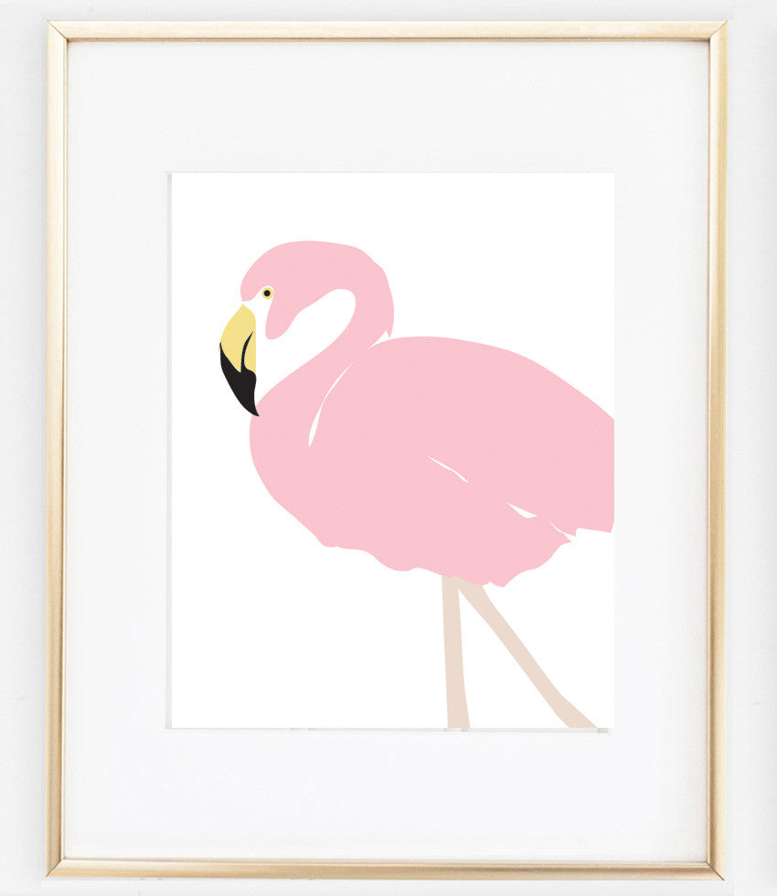 Flamingo Poster Art | Pink Flamingo Artwork | Vintage Flamingo
